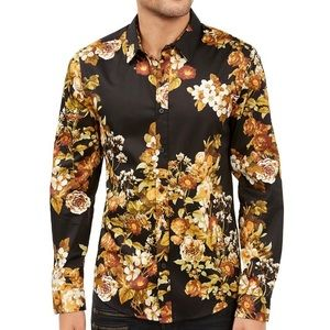 GUESS Men's Luxe Lost Angels Floral Shirt